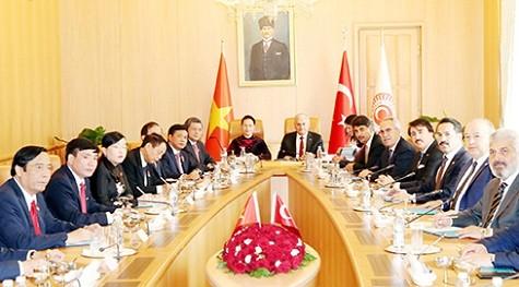 Chủ tịch Quốc hội Nguyễn Thị Kim Ngân hội đàm với Chủ tịch Quốc hội Thổ Nhĩ Kỳ - ảnh 1