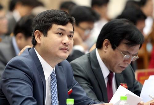Ông Lê Phước Hoài Bảo tham gia một cuộc họp của tỉnh Quảng Nam lúc còn đương chức Giám đốc Sở Kế hoạch Đầu tư.