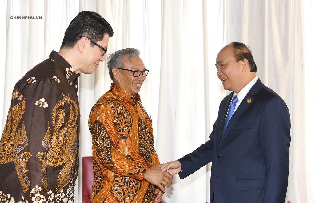 Thủ tướng Nguyễn Xuân Phúc tiếp Chủ tịch Tập đoàn Ciputra Budiarsa Sastrawinata. Ảnh: VGP