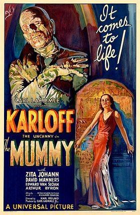 Tấm poster nguyên bản của bộ phim The Mummy năm 1932 được rao bán với giá 1 - 1,5 triệu USD. (Nguồn: Courtesy Sotheby's/Reuters)