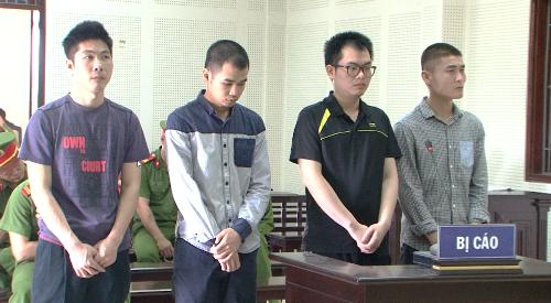 Bốn bị cáo tại phiên tòa hôm nay