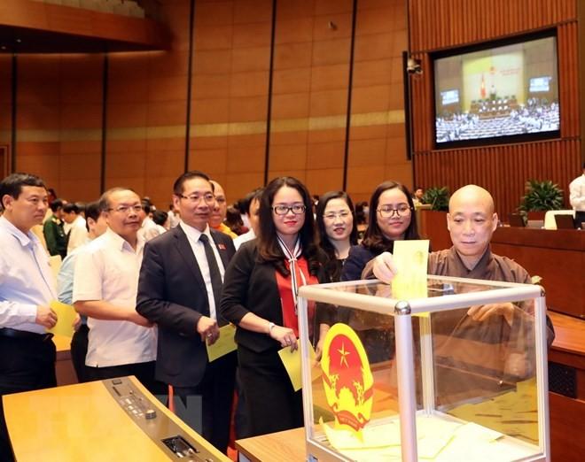 Hình ảnh các đại biểu Quốc hội bỏ phiếu bầu Chủ tịch nước - ảnh 2