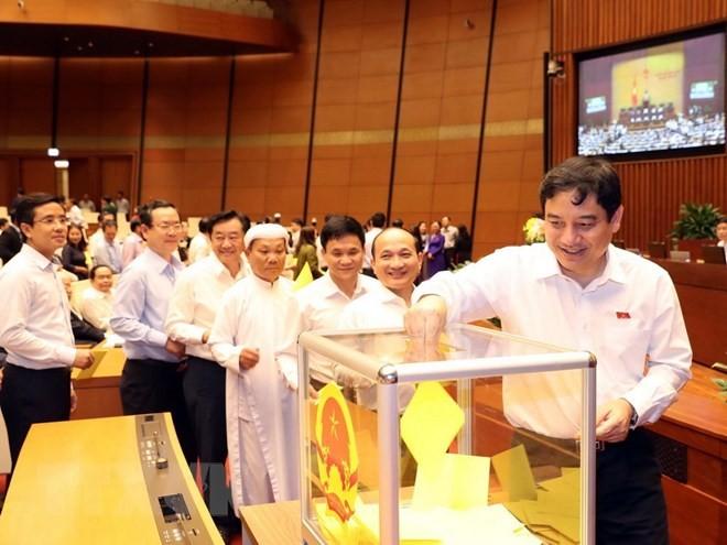 Hình ảnh các đại biểu Quốc hội bỏ phiếu bầu Chủ tịch nước - ảnh 3