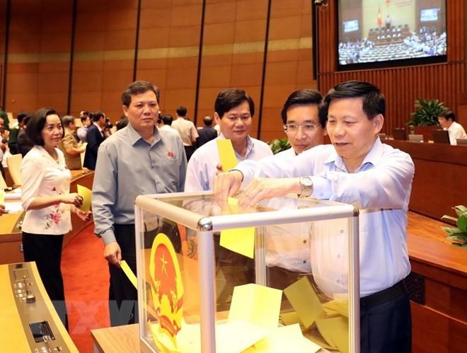 Hình ảnh các đại biểu Quốc hội bỏ phiếu bầu Chủ tịch nước - ảnh 4