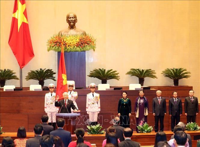 Hình ảnh Lễ tuyên thệ của Chủ tịch nước Nguyễn Phú Trọng - ảnh 1