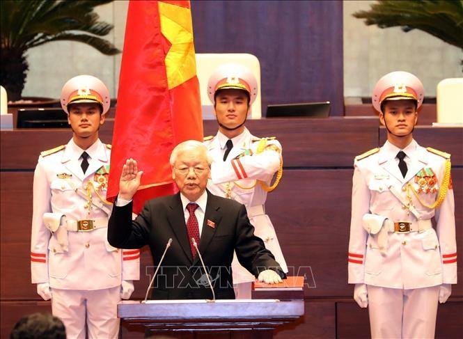 Hình ảnh Lễ tuyên thệ của Chủ tịch nước Nguyễn Phú Trọng - ảnh 2