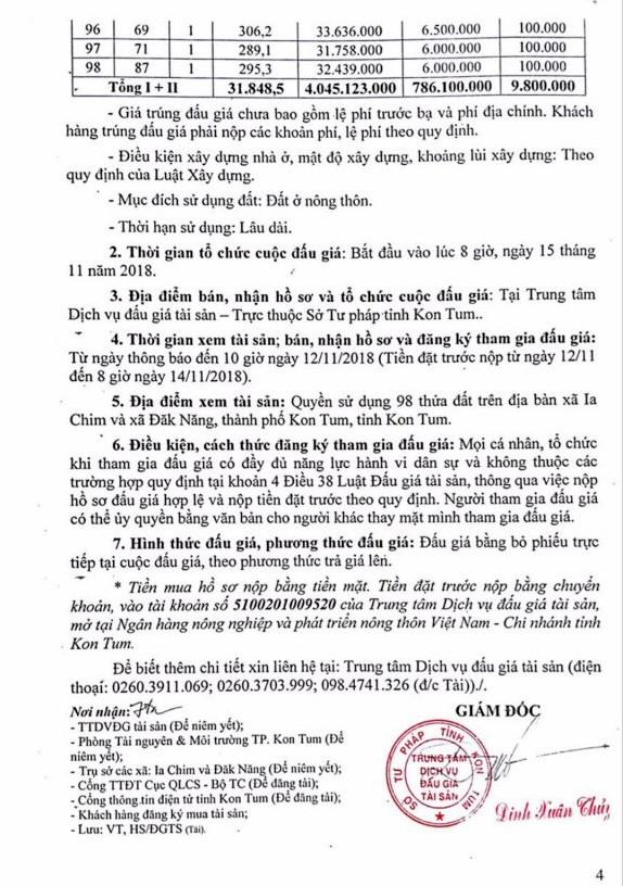 Ngày 15/11/2018, đấu giá quyền sử dụng đất tại thành phố Kon Tum, tỉnh Kon Tum - ảnh 4