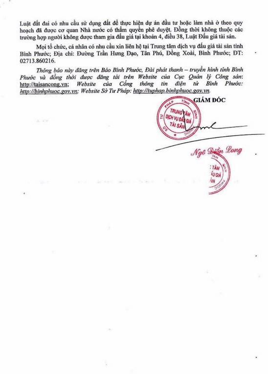 Ngày 16/11/2018, đấu giá quyền sử dụng 3 lô đất tại huyện Bù Đăng, tỉnh Bình Phước - ảnh 3