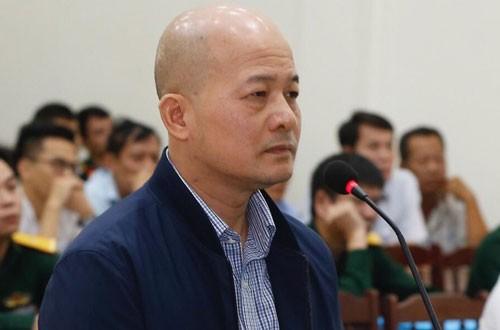 Bị cáo Đinh Ngọc Hệ tại phiên tòa phúc thẩm.