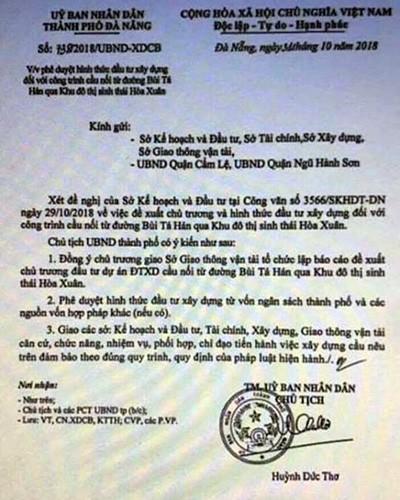Làm giả văn bản của UBND TP Đà Nẵng để tạo cơn sốt đất - ảnh 1