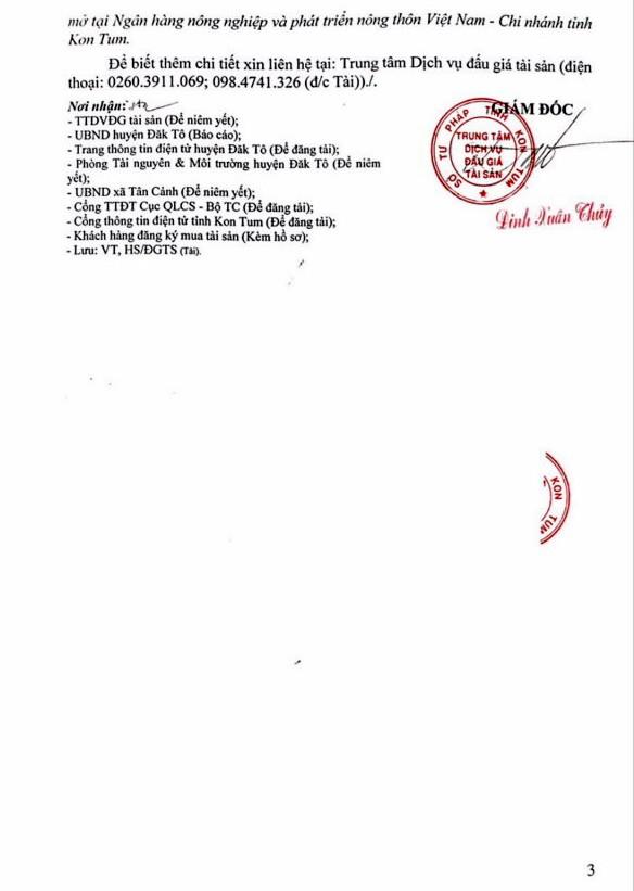 Ngày 22/11/2018, đấu giá quyền sử dụng 16 thửa đất tại huyện Đắk Tô, Kon Tum - ảnh 3