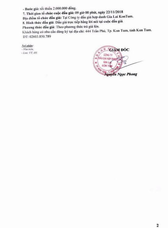 Ngày 22/11/2018, đấu giá xe ô tô Huyndai tại tỉnh Kon Tum - ảnh 2