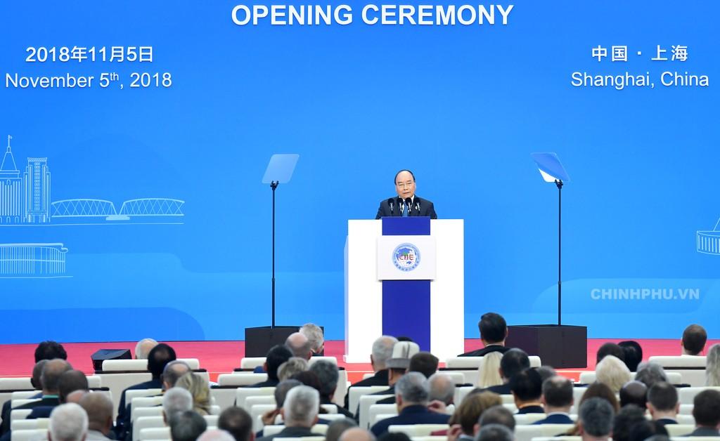 Thủ tướng dự Lễ khai mạc Hội chợ CIIE và Diễn đàn kinh tế thương mại quốc tế Hồng Kiều - ảnh 3