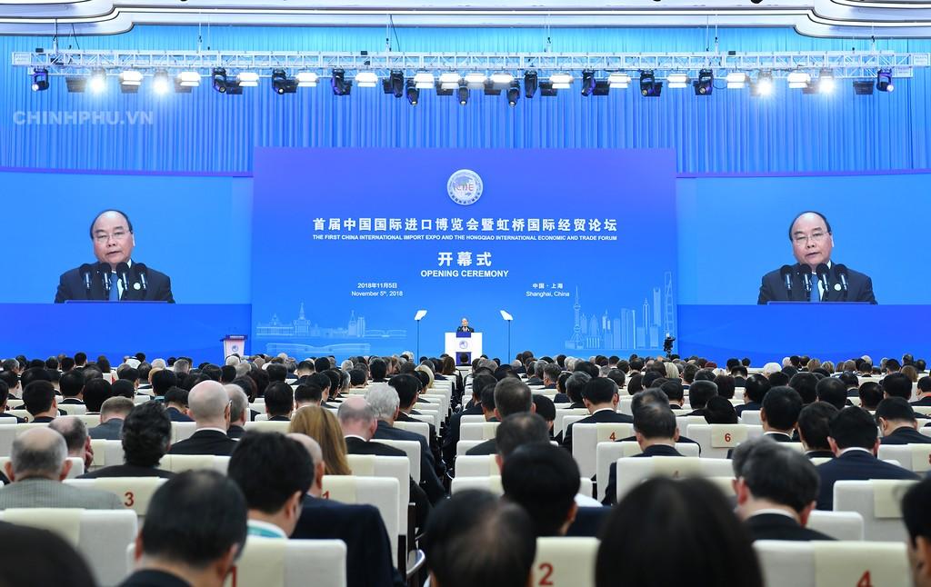 Thủ tướng dự Lễ khai mạc Hội chợ CIIE và Diễn đàn kinh tế thương mại quốc tế Hồng Kiều - ảnh 4
