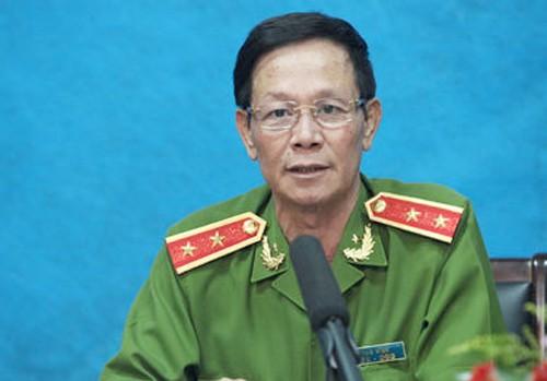 Ông Phan Văn Vĩnh khi đương chức Tổng cục trưởng Tổng cục Cảnh sát, Bộ Công an. Ảnh: Công an nhân dân.