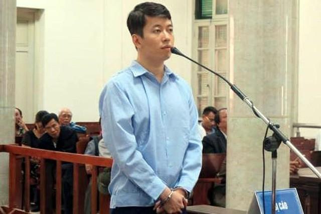 Bị cáo Trịnh Anh Minh tại tòa sơ thẩm.