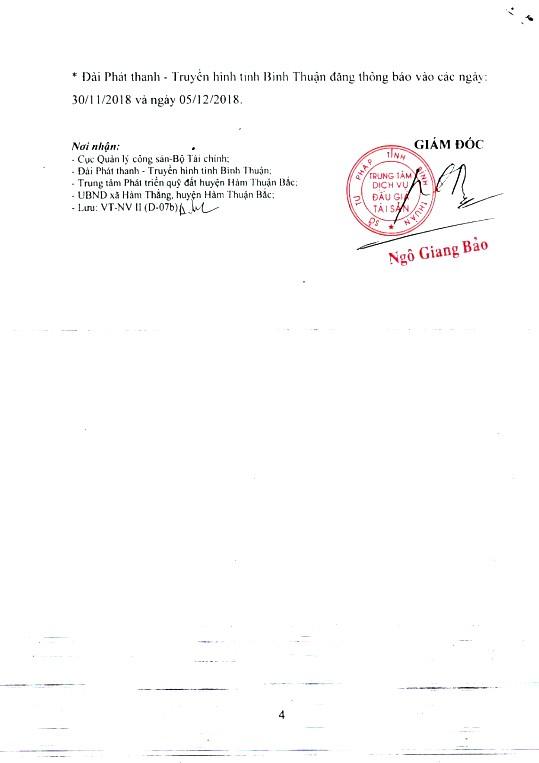 Ngày 24/12/2018, đấu giá quyền sử dụng 1.984 m2 đất tại huyện Hàm Thuận Bắc, tỉnh Bình Thuận - ảnh 4