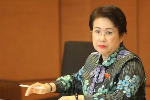 Bà Phan Thị Mỹ Thanh khi còn làm đại biểu Quốc hội.