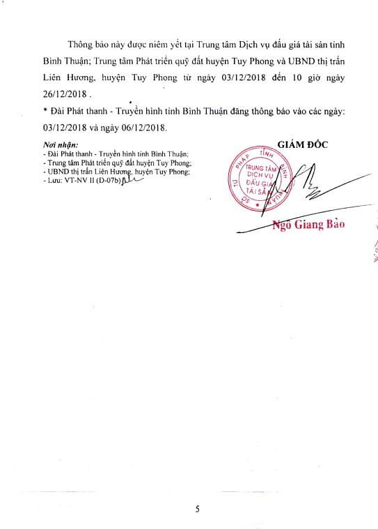 Ngày 27/12/2018, đấu giá quyền sử dụng 18 lô đất tại huyện Tuy Phong, tỉnh Bình Thuận - ảnh 5