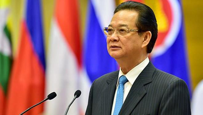 Thủ tướng Nguyễn Tấn Dũng phát biểu tại Tiệc chiêu đãi. Ảnh: VGP