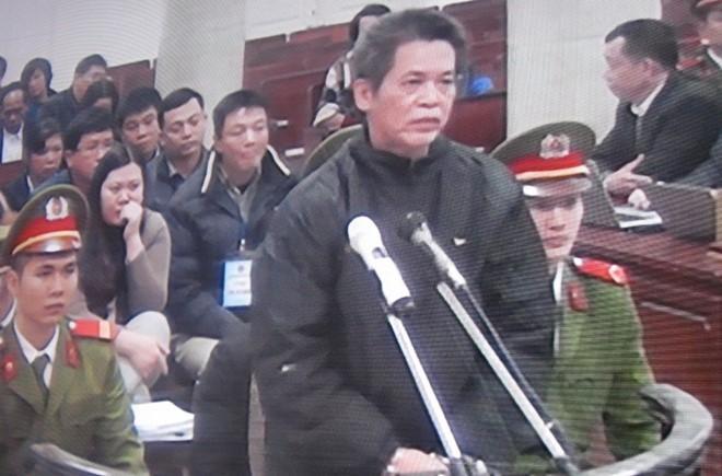 Bị cáo Phạm Thanh Tân tại phiên tòa sơ thẩm. Ảnh: Nguyễn Khoa.
