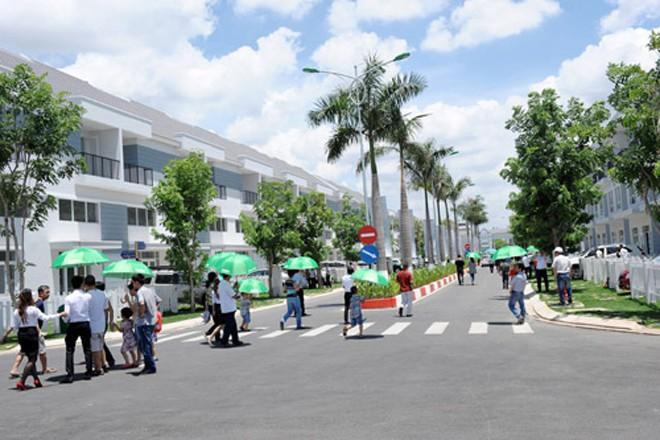 Một dự án nhà phố compound hút khách tại khu Đông TP HCM. Ảnh:Vũ Lê