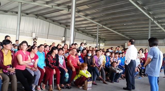 Công nhân Cty TNHH Gadys đình công: Giám đốc tuyên bố công nhân muốn nghỉ việc cứ nghỉ! - ảnh 1