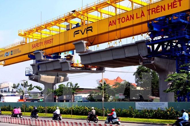 Tuyến đường sắt đô thị số 1 Bến Thành - Suối Tiên (Ảnh minh họa: Vietnam+)