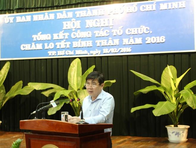 Chủ tịch UBND TP HCM Nguyễn Thành Phong phát biểu sáng 18-2