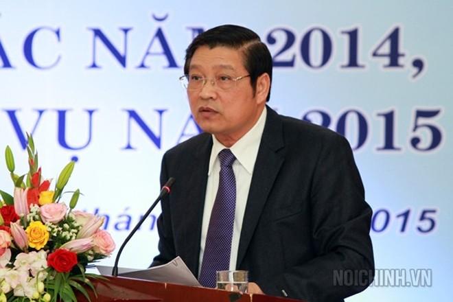 Ông Phan Đình Trạc được Bộ Chính trị phân công làm Trưởng ban Nội chính T.Ư - Ảnh: Ban Nội chính T.Ư