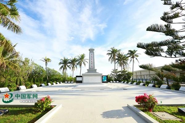 Nghĩa trang Trung Quốc xây phi pháp trên đảo Quang Hòa thuộc quần đảo Hoàng Sa của Việt Nam. Ảnh: 81.cn.