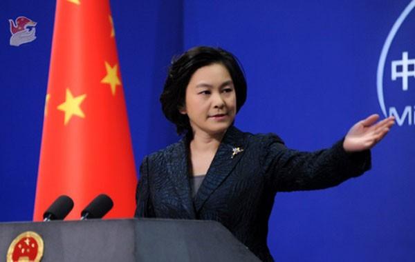 Người phát ngôn Bộ Ngoại giao Trung Quốc Hoa Xuân Doanh. Ảnh:Reuters