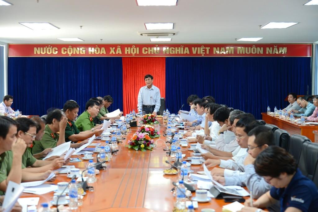 Phó Tổng giám đốc PVN Lê Minh Hồng phát biểu kết luận buổi họp