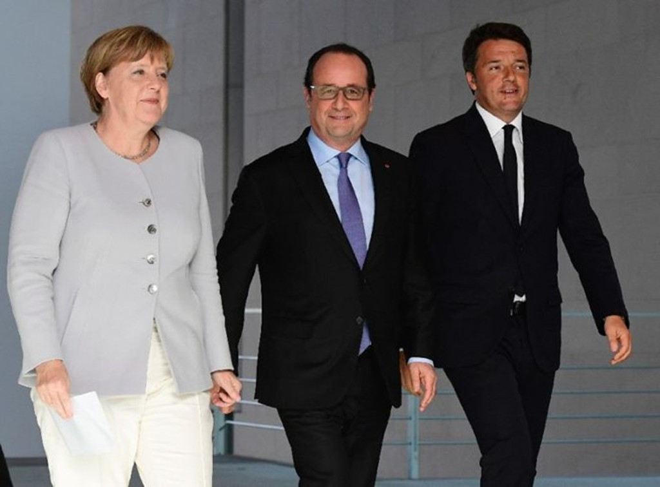 Italy, Đức, Pháp nhóm họp thảo luận về tương lai EU hậu Brexit - ảnh 1