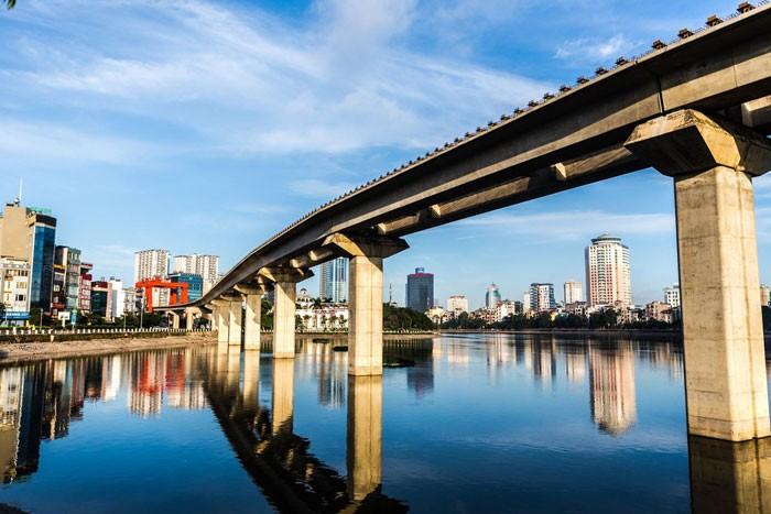 Tiến độ Dự án Đường sắt đô thị Hà Nội vẫn chậm do vốn lưu động của Tổng thầu không đủ đáp ứng. Ảnh: Đặng Minh Dũng