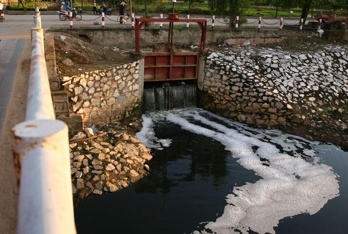 Cả nước có 615 cụm công nghiệp nhưng chỉ khoảng hơn 5% có hệ thống xử lý nước thải tập trung. Ảnh: Lê Tiên