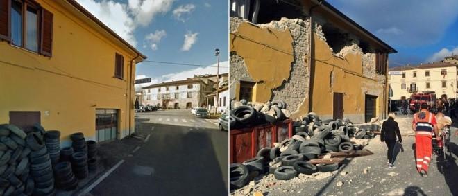 Hình ảnh đối lập của thị trấn Italy trước và sau động đất - ảnh 6