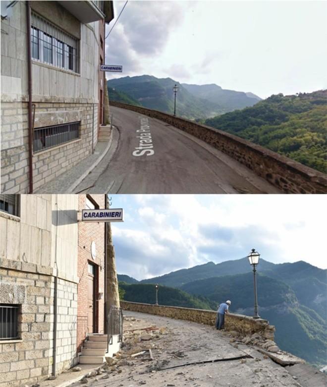 Hình ảnh đối lập của thị trấn Italy trước và sau động đất - ảnh 8