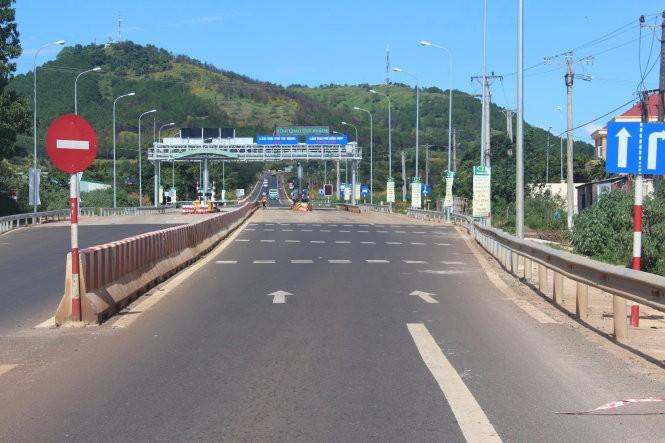 Trạm thu phí BOT trên quốc lộ 19 thuộc địa phận tỉnh Gia Lai - Ảnh: T.B.D