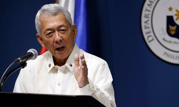 Ngoại trưởng Philippines Perfecto Yasay. Ảnh: Reuters.