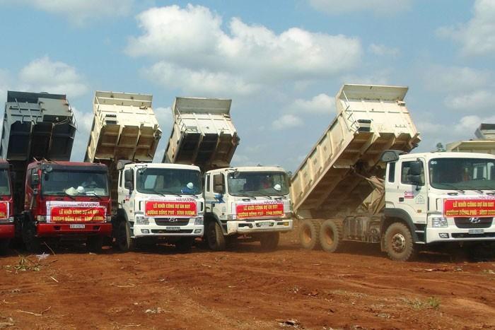 Dự án Đầu tư xây dựng đường Đồng Phú - Bình Dương huyện Đồng Phú, tỉnh Bình Phước theo hình thức BOT giai đoạn 1 có tổng mức đầu tư 1.480 tỷ đồng. Ảnh: Oanh Nguyễn