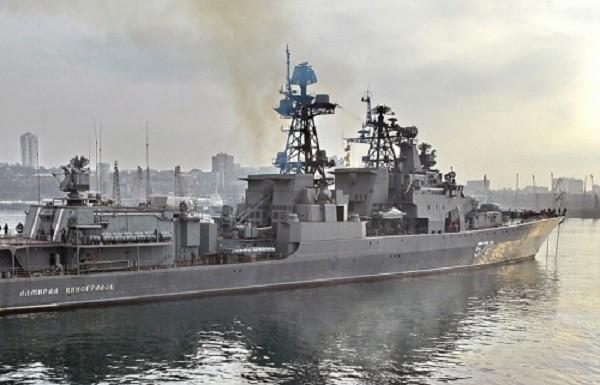 Tàu Đô đốc Vinogradov của Hạm đội Thái Bình Dương. Ảnh: Tass