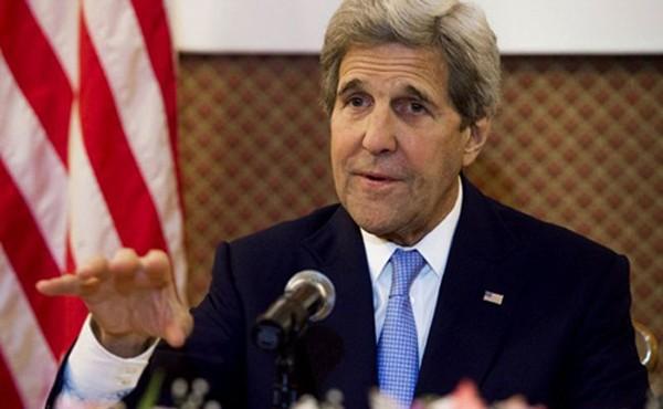 Ngoại trưởng Mỹ John Kerry tại Ấn Độ. Ảnh: AFP