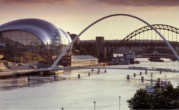 Thị trấn Gateshead, đông bắc Anh. Ảnh:Gateshead