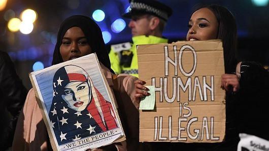 Sắc lệnh hạn chế nhập cư của Tổng thống Mỹ Donald Trump đối mặt với các thách thức pháp lý. (Ảnh minh họa: Getty)