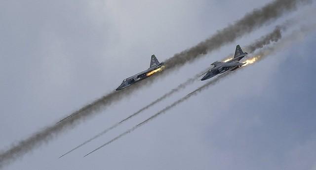 Máy bay chiến đấu Sukhoi Su-25 của Nga (Ảnh: Reuters)