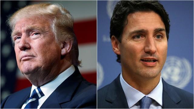 Tổng thống Donald Trump (trái) và Thủ tướng Canada Justin Trudeau (Ảnh: Reuters)