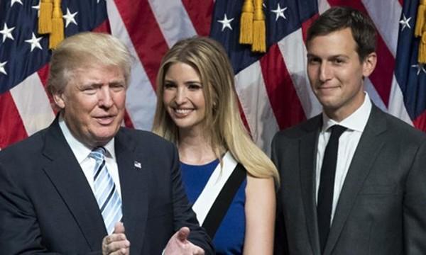 Ivanka Trump và Jared Kushner đứng sau nhiều quyết định quan trọng của Trump. Ảnh:AFP