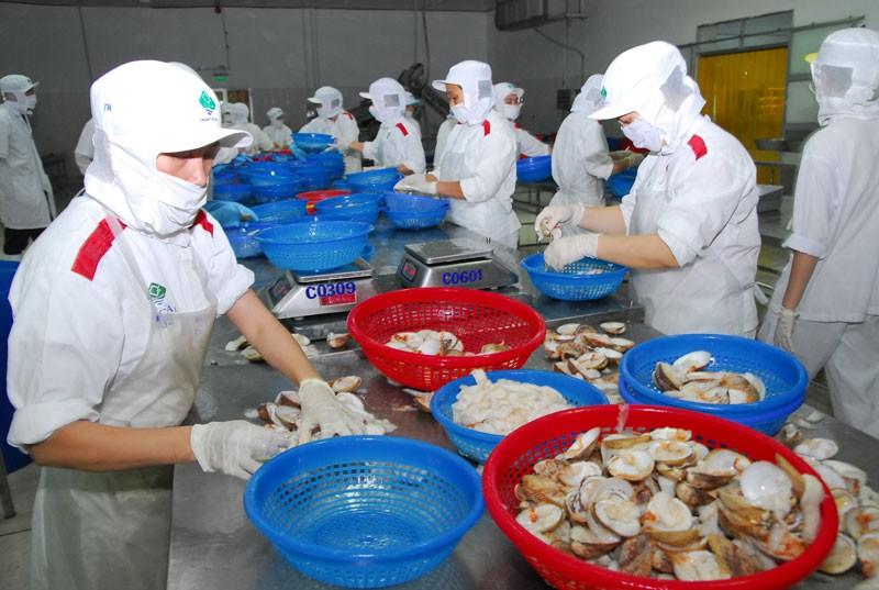 Các mặt hàng xuất khẩu chủ lực của Việt Nam như dệt may, giày dép và thủy sản đang gặp nhiều khó khăn. Ảnh: Nhã Chi