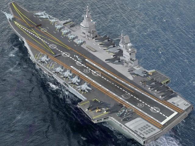 Mô hình tàu sân bay Shtorm của Nga. (Ảnh: USNI)